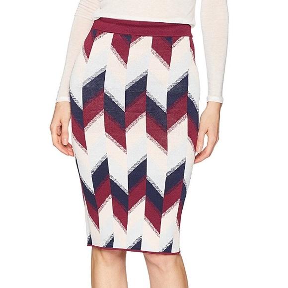 6d55ff4bf BCBGMaxAzria Skirts   Leger Colorblock Knit Pencil Skirt   Poshmark